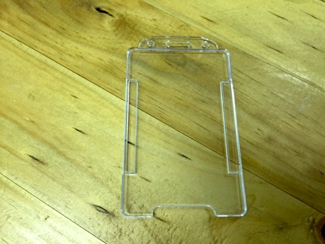Clear Open-Face Access Card Holder (Portrait)