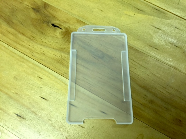 Opaque Open-Face Access Card Holder (Portrait)