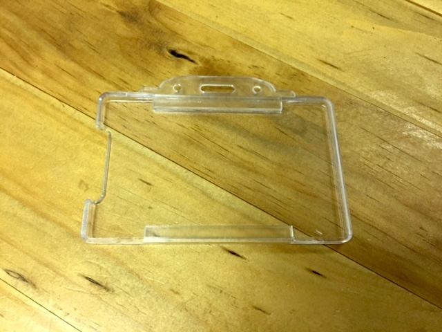 Clear Open-Face Access Card Holder (Landscape)
