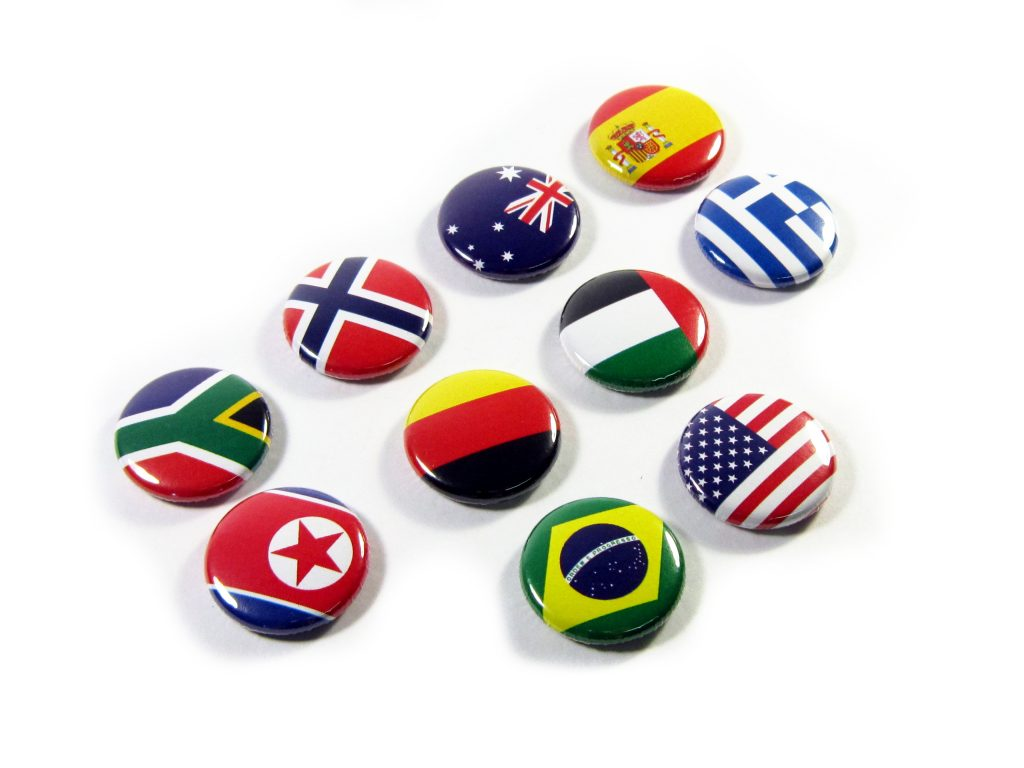 25mm Button Flags