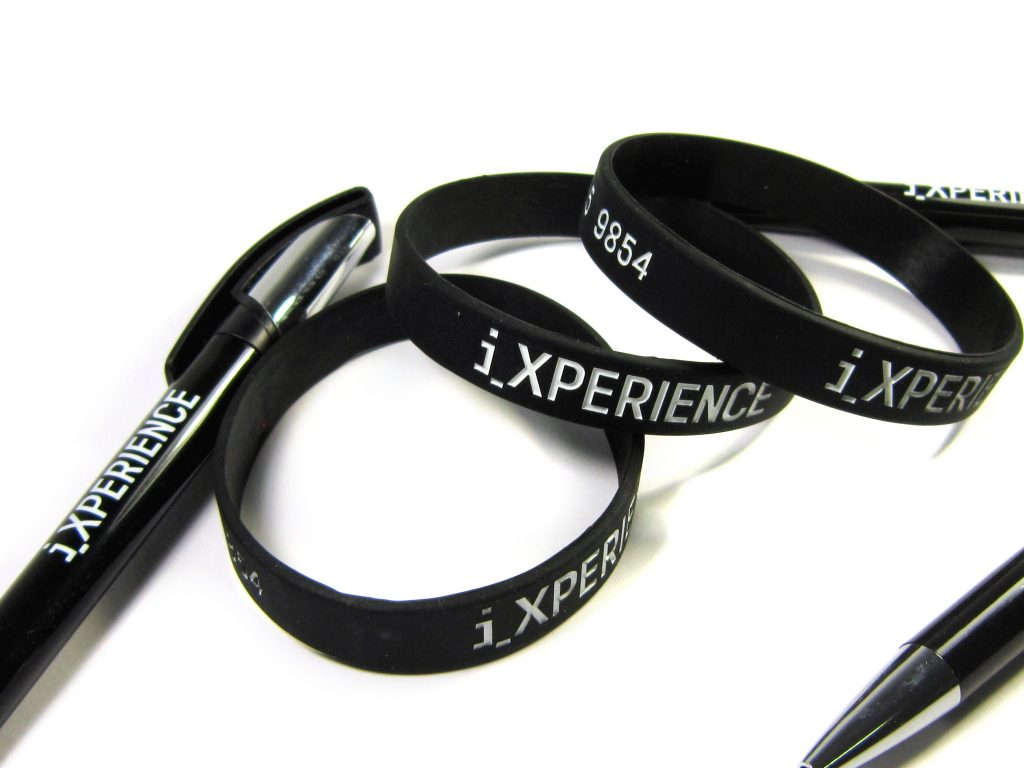 Silicone Wristebands & Pens | iXPERIENCE